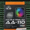 AA110 DOUBLE RING RGB FAN